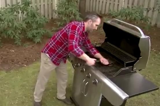 plynové grily - čištění